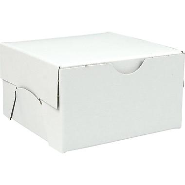 Boîte pliante, 3 1/2 po x 3 1/2 po x 2 po, blanc, bte/100