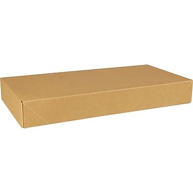Boîte à vêtements, 11,5 po x 8,5 po x 1,625 po, rayures kraft, bte/100