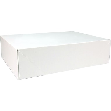 Boîte à vêtements, 15 po x 14 po x 4,5 po, blanc, bte/50