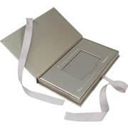 "Gift Card Box with Ribbon, 4.25"" x 7.5"" x .625"", Pewter, 50/case"