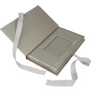 Boîte pour carte-cadeau avec ruban, 4,25 po x 7,5 po x 0,625 po, étain, bte/50