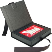 "Gift Card Box with Ribbon, 4"" x 3"" x .625"", Black, 100/case"