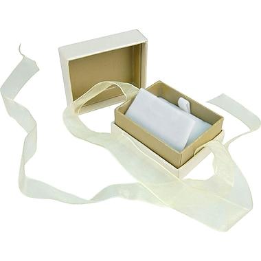 Romance – Coffret à bijoux, 2 x 1 1/2 x 1 1/10 po, ivoire et havane, 100/boîte