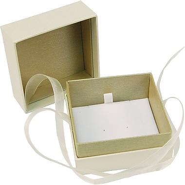 Romance – Coffret à bijoux, 3 x 3 x 2 1/8 po, ivoire et havane, 100/boîte