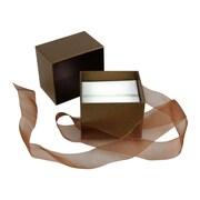 Velocity – Coffret à bijoux, 2 1/2 x 2 1/4 x 2 po, taupe, 50/boîte