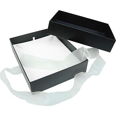 Velocity – Coffret à bijoux, 6 1/4 x 8 x 2 po, noir, 25/boîte