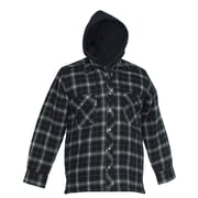 Forcefield Flannel Shirt with Hood, Black