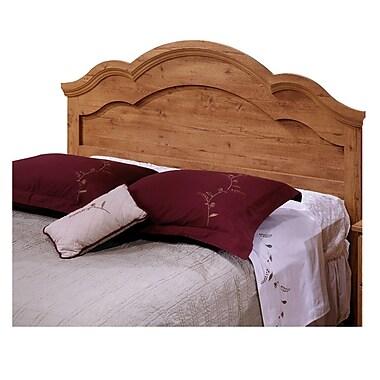 South Shore – Tête de grand lit ou lit deux places à bibliothèque, collection Prairie, 54 à 60 po, fini pin campagnard