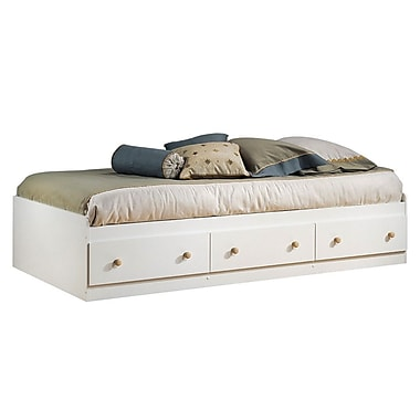 South Shore Summertime Collection Twin Storage Bed, Pure White
