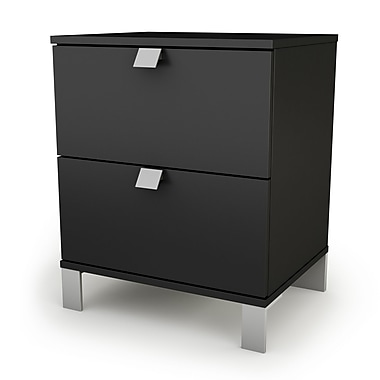 South Shore - Table de nuit de 23 ¼ po de la collection Spark, noir pur