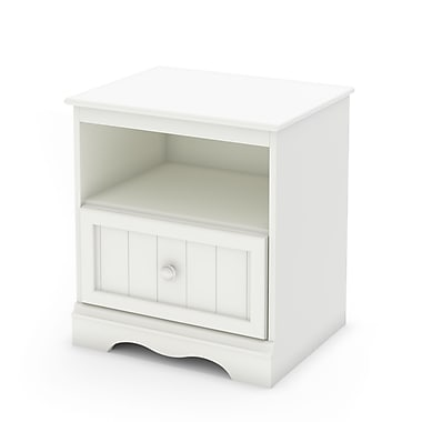 South Shore – Table de chevet, collection Savannah, 22 3/4 po, blanc pur