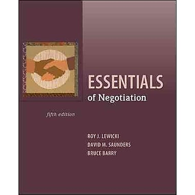 Essentials of Negotiation, New Book