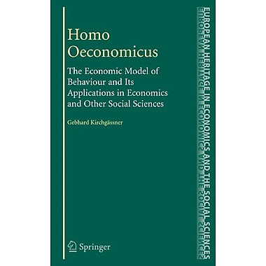 Homo Oeconomicus (Hardcover)
