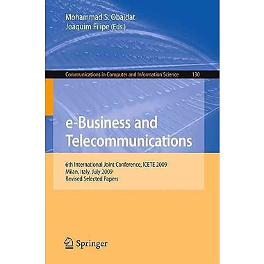 e-Business and Telecommunications Mohammad S. Obaidat, Joaquim Filipe Paperback