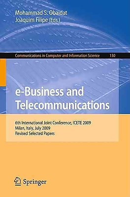 e-Business and Telecommunications Mohammad S. Obaidat, Joaquim Filipe Paperback