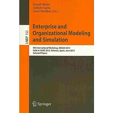 Enterprise and Organizational Modeling and Simulation (Paperback)