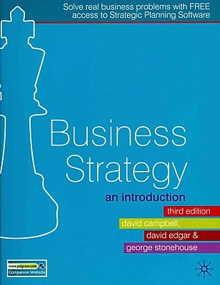 Business Strategy: An Introduction
