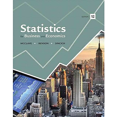 Statistics for Business and Economics Plus NEW MyStatLab with Pearson eText -- Access Card Package (12th Edition)