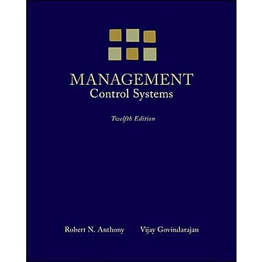 Management Control Systems, New Book