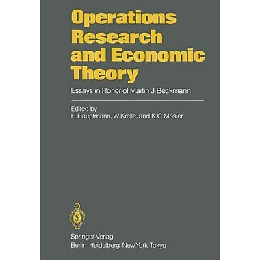 Operations Research and Economic Theory