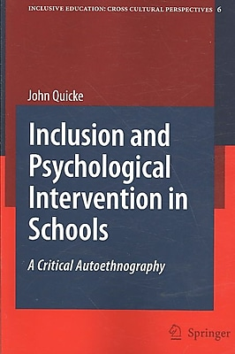 Springer Inclusion and Psychological Intervention in Schools Book