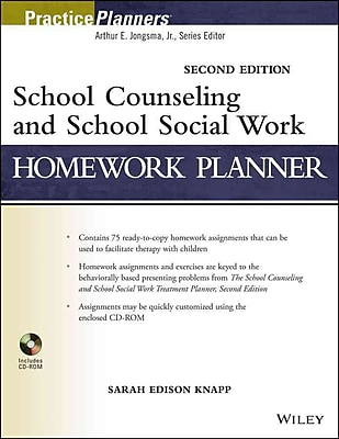 John Wiley & Sons School Counseling and School Social Work Homework Planner