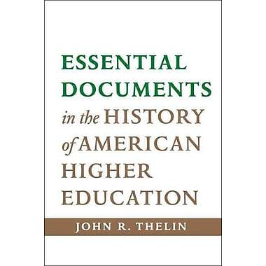 Johns Hopkins University Press Essential Documents in the Hardback Book