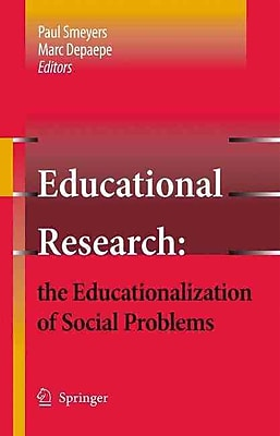 Springer Verlag Educational Research: The Educationalization of Social Problems Book