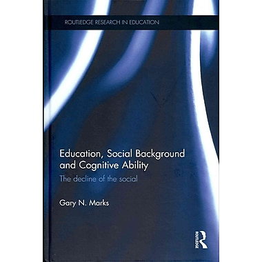 Taylor & Francis Education, Social Background and Cognitive Ability Book