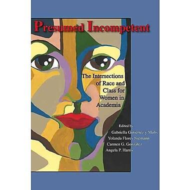 Utah State University Press Presumed Incompetent Book