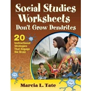 Corwin Social Studies Worksheets Don't Grow Dendrites: 20 Instructional Strategies... Book