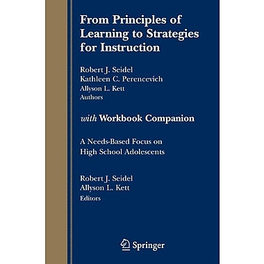 Springer Verlag From Principles of Learning to Strategies for Instruction-with... Book