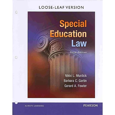 Pearson Special Education Law Loose-Leaf Version Book
