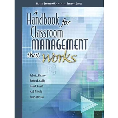 Pearson A Handbook for Classroom Management that Works Book
