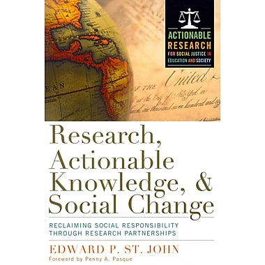 Stylus Publishing Research, Actionable Knowledge, and Social Change Paperback Book