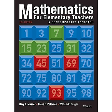 John Wiley & Sons 10 Edition Mathematics for Elementary Teachers Book