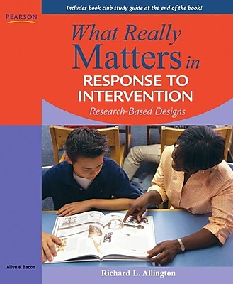 Prentice Hall What Really Matters in Response to Intervention Book
