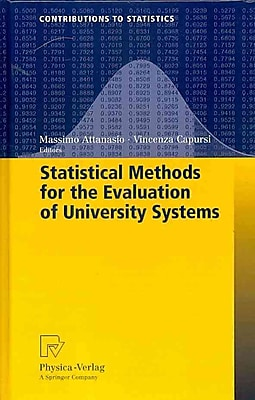Springer Statistical Methods for the Evaluation of University Systems Book