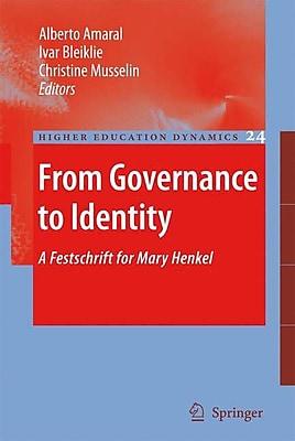 Springer From Governance to Identity, Volume 24 Book
