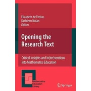 Springer 46th Vol. Opening the Research Text Book