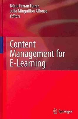 Springer Content Management for E-Learning Book