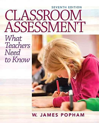 Pearson Classroom Assessment: What Teachers Need to Know Book