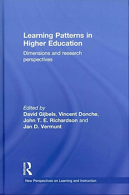 Taylor & Francis Learning Patterns in Higher Education: Dimensions and Hardback Book