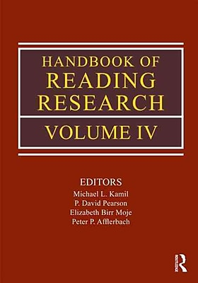 Taylor & Francis Handbook of Reading Research Book