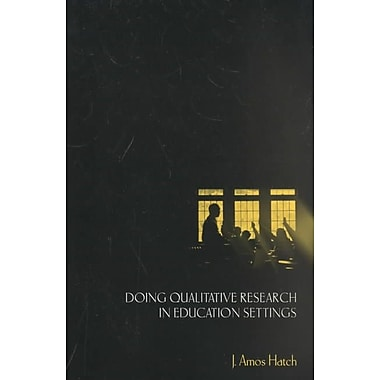 SUNY Press Doing Qualitative Research in Education Settings Paperback Book