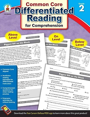Carson Dellosa Differentiated Reading for Comprehension Resource Book, Grades 2