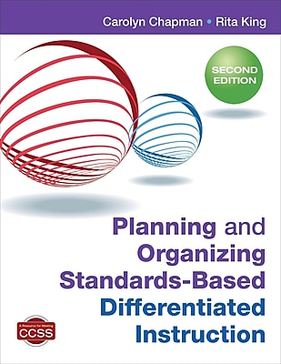 Corwin Planning and Organizing Standards-Based Differentiated Instruction Book