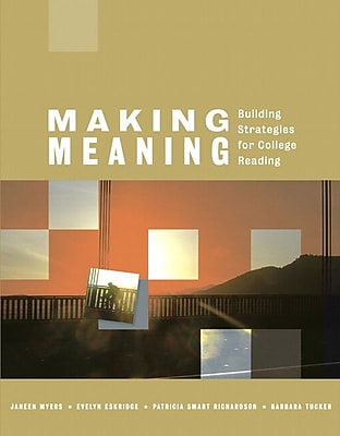 Pearson Making Meaning: Building Strategies for College Reading Book