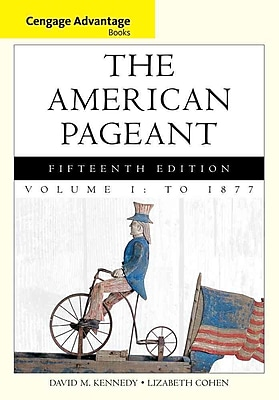 Cengage Learning® The American Pageant, Volume 1 Book