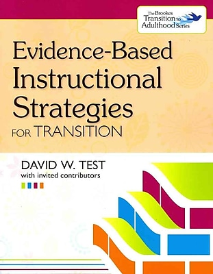 Brookes Publishing Co Evidence-Based Instructional Strategies for Transition Book